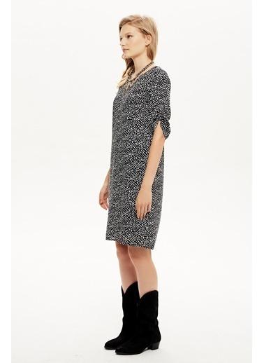 NaraMaxx V Yaka Kol Detaylı Elbise Renkli